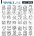 security outline mini concept symbols data pc vector image