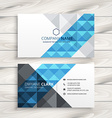 creative abstract business card vector image