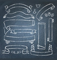 collection of chalkboard banners vector image