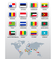 Flags of different countries vector image