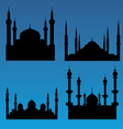 Mosque silhouettes vector image