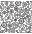 Steampunk seamless pattern of metal gears in vector image