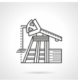Line icon for oil pump vector image