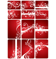 red floral backgrounds vector image vector image