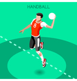 Handball 2016 Summer Games 3D Isometric vector image vector image