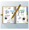 Organize Notebook Science And Education vector image