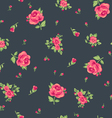 ditsy red roses print vector image