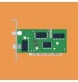 Ethernet card vector image