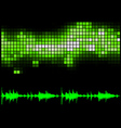 Green Equalizer and Sound Curve vector image