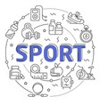 line flat circle sport vector image