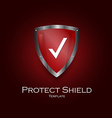 shild icon red vector image