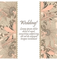 Wedding card with flowers lily vector image