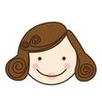 woman cartoon face icon image vector image