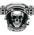 skull in a spacesuit vector image
