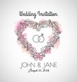 Heart Wedding Invitation vector image vector image