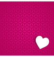 pink valentine card vector image vector image