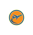 Commercial Jet Plane Airline Flying Retro vector image vector image