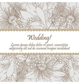 Wedding card with seamless pattern of lily flowers vector image