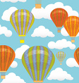 Seamless pattern Hot air balloon and clouds in the vector image