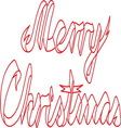 Merry christmas ribbon resize vector image