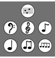 Hand drawn set of musical notes vector image