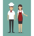 chef kitchen design vector image