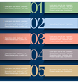 Paper numbered banners in pastel colors 2 vector image