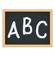 ABC Letters on Chalkboard vector image