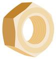 Brass screw female vector image