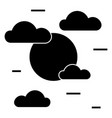cloudy day icon sign o vector image
