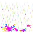 colorful rain drops isolate vector image