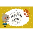 Cute animal card with rabbit vector image