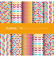 floral colorful patterns vector image