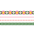 floral garland pink vector image