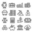 lines icon set bitcoin crypto vector image