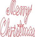 Merry christmas ribbon resize vector image