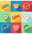 Pop-art style card symbol of love vector image