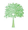 shadow tree cartoon vector image