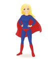 Super hero woman vector image