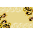 beige frame with paisley pattern vector image vector image