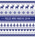 Feliz Ano Nuevo 2014 - spanish happy year pattern vector image