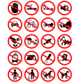 forbidding pictograms2 vector image