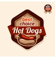hot dogs emblem vector image vector image