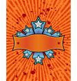 star banner orange vector image vector image