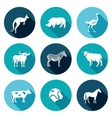 Animals of the Australian continent icons set vector image