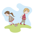 unfortunate date of abstract boy and girl vector image vector image