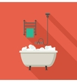 Bath flat vector image
