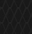 Black textured plastic diamonds with black line vector image