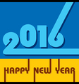 creative New Year 2016 design vector image