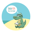 Crocodile With a Book - Error 404 vector image